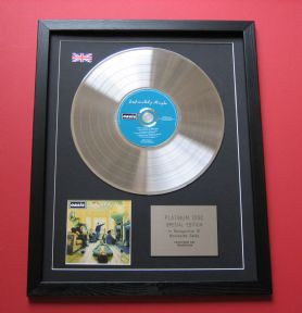OASIS - DEFINITELY MAYBE CD / PLATINUM LP DISC